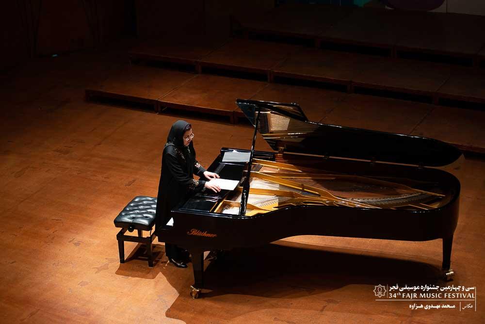 گزارش تصویری کنسرت تکنوازی پیانو – آرپینه ایسرائیلیان در اولین شب سی و چهارمین جشنواره موسیقی فجر