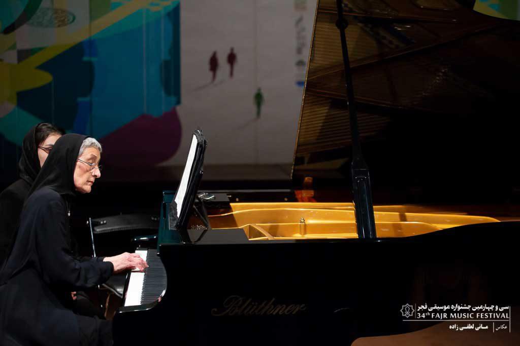 گزارش تصویری اجرای برنامه تکنوازی پیانو فریماه قوام صدری