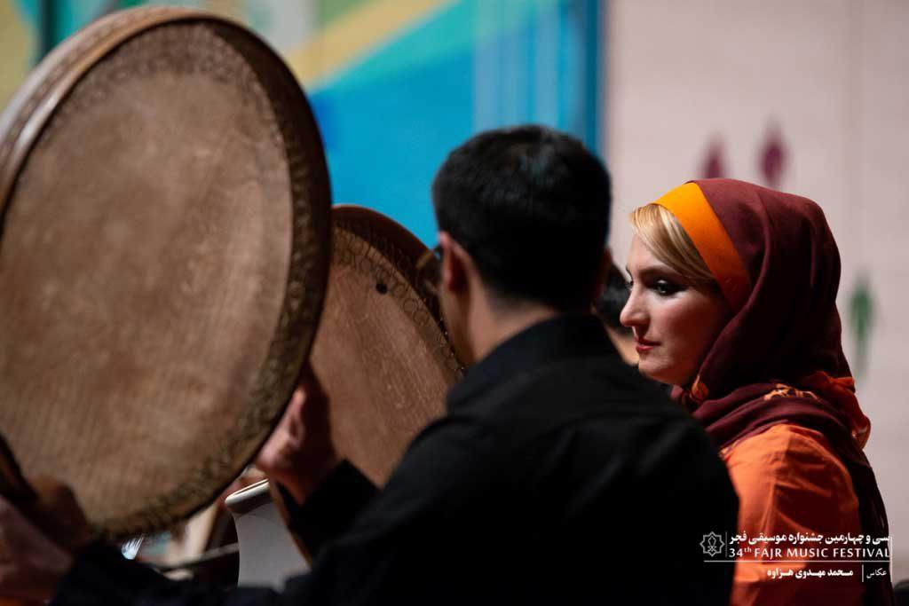 اجرای گروه بربطیان در دومین سانس تالار رودکی در ششمین شب جشنواره
