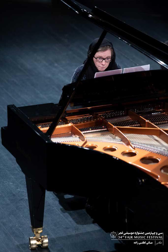 اجرای ماری دولا در تالار وحدت در پنجمین روز جشنواره موسیقی