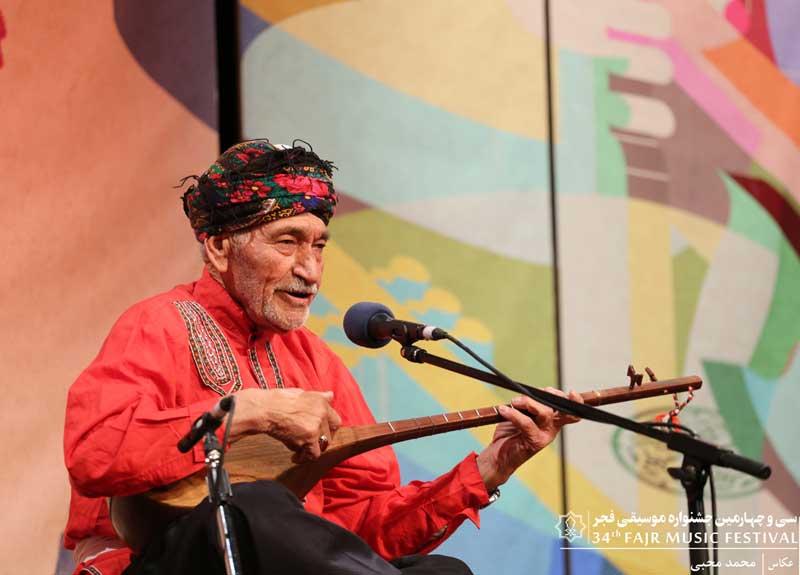 ترکمن ها – اجرای هنرمند 87 ساله قوچانی در جشنواره موسیقی