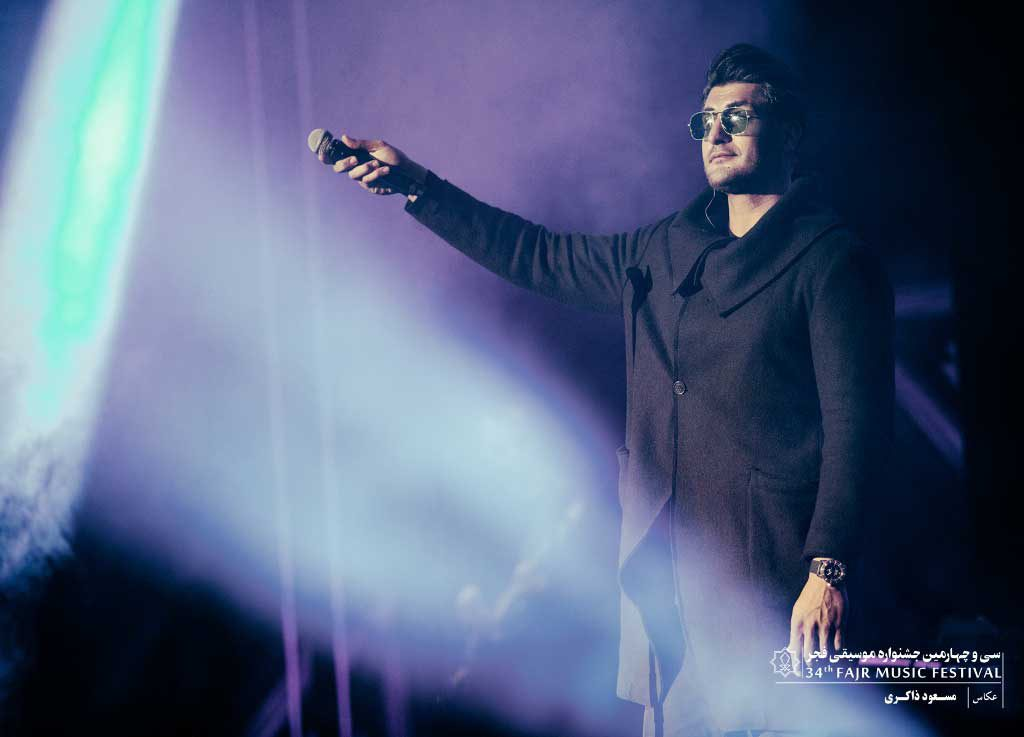 گزارش تصویری کنسرت شهاب مظفری در شب دوم سی و چهارمین جشنواره موسیقی فجر