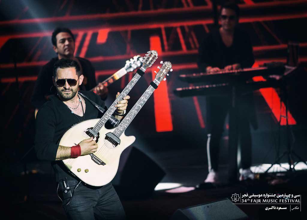 گزارش تصویری کنسرت گروه سون باند در سی و چهارمین جشنواره موسیقی فجر