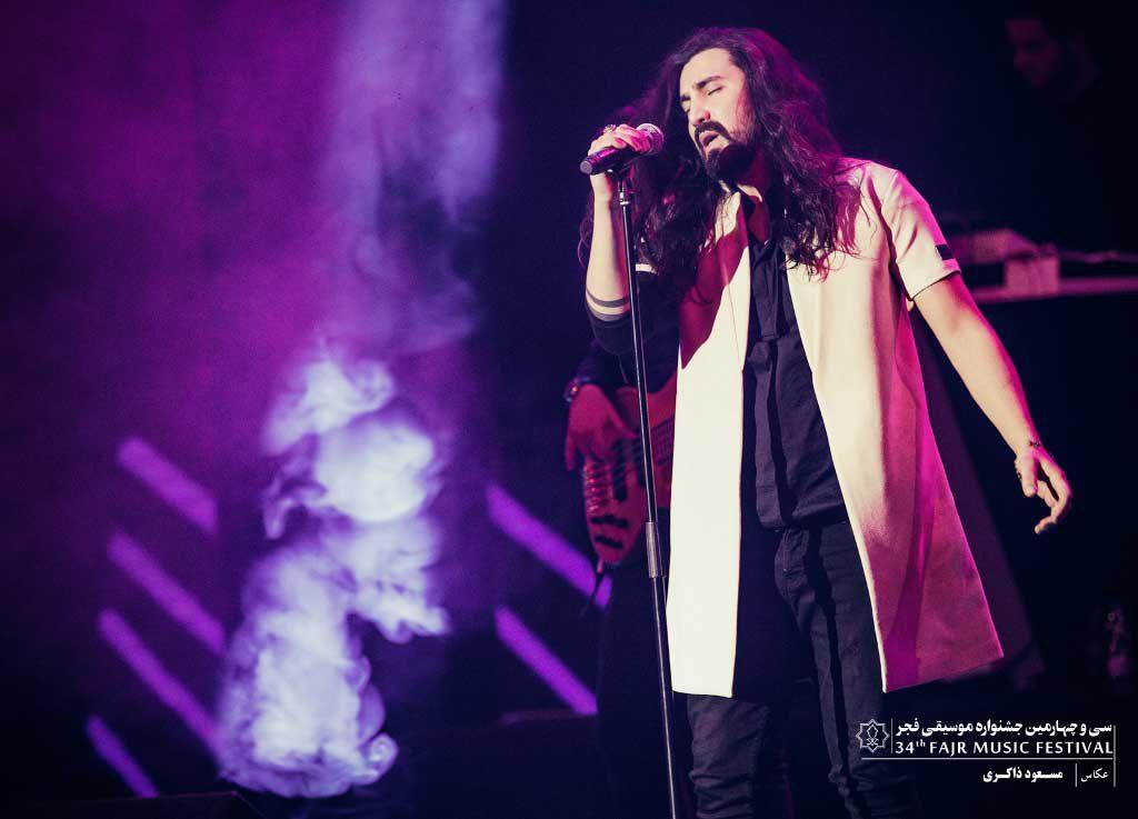گزارش تصویری کنسرت امیر عباس گلاب در سومین شب سی و چهارمین جشنواره موسیقی فجر
